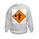Flagman Sign Kids Sweatshirt
