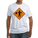 Flagman Sign Fitted T-Shirt