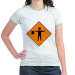 Flagman Sign Jr. Ringer T-Shirt