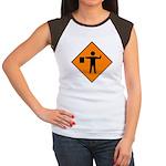 Flagman Sign Women's Cap Sleeve T-Shirt