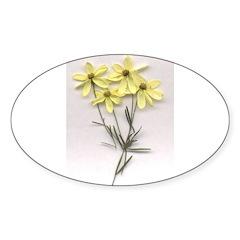 flower coriposi Oval Decal