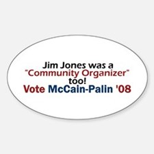 Jim Jones Organizer 2 Oval Decal