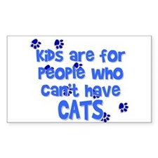 Can't Have Cats Rectangle Decal