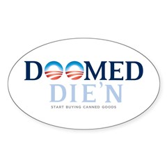 Doomed Anti Obama Gear Oval Sticker (50 pk)