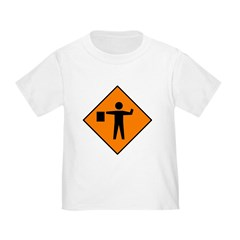 Flagman Ahead Sign - T