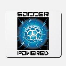 Soccer Powered (Blue) Mousepad