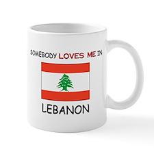 Somebody Loves Me In LEBANON Small Mug