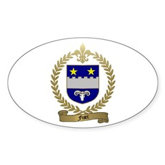 FISET Family Crest Oval Decal