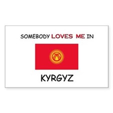 Somebody Loves Me In KYRGYZ Rectangle Decal