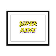 Super rene Framed Panel Print