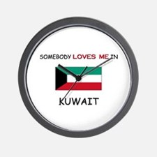 Somebody Loves Me In KUWAIT Wall Clock