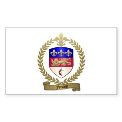FERRAND Family Crest Rectangle Decal