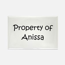 Funny Anissa Rectangle Magnet