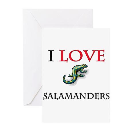 I Love Salamanders Greeting Cards (Pk of 10)