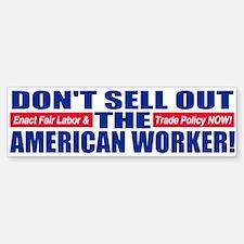 Example Anti JOB OUTSOURCING Bumper Bumper Bumper Sticker
