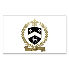 FAVREAU Family Crest Rectangle Sticker