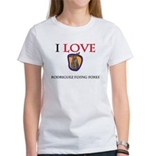 I Love Rodriguez Flying Foxes Women's T-Shirt