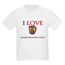 I Love Rodriguez Flying Foxes Kids Light T-Shirt