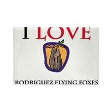 I Love Rodriguez Flying Foxes Rectangle Magnet