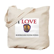 I Love Rodriguez Flying Foxes Tote Bag