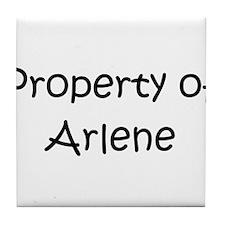 Cool Arlene name Tile Coaster