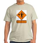 Flagman Ahead Sign 2 Ash Grey T-Shirt