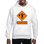 Flagman Ahead Sign 2 Hooded Sweatshirt
