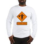 Flagman Ahead Sign 2 Long Sleeve T-Shirt