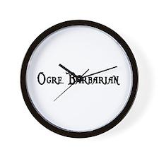 Ogre Barbarian Wall Clock