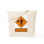 Flagman Ahead Sign - Tote Bag
