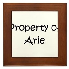 Funny Aries Framed Tile