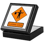 Flagman Ahead Sign - Keepsake Box