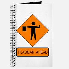 Flagman Ahead Sign - Journal
