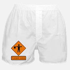 Flagman Ahead Sign - Boxer Shorts