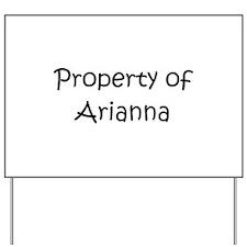 Unique Arianna Yard Sign