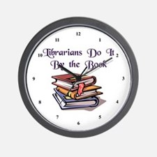 """Do It By the Book"" Wall Clock"