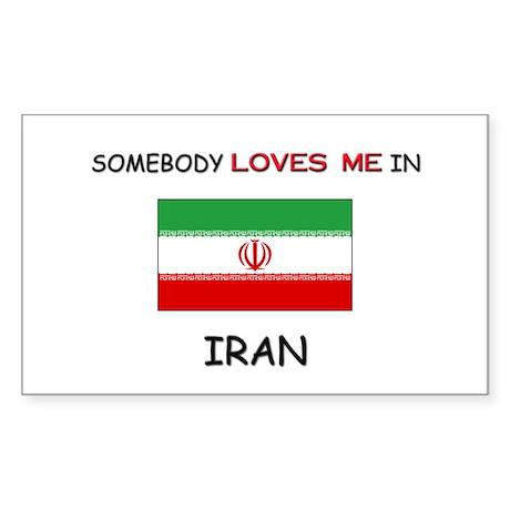 Somebody Loves Me In IRAN Rectangle Sticker