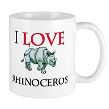 I Love Rhinoceros Mug