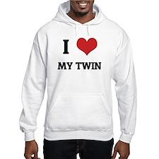 I Love My Twin Hoodie