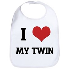 I Love My Twin Bib