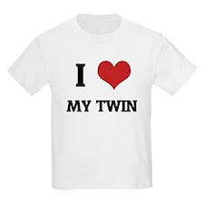 I Love My Twin Kids T-Shirt