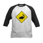 Fishing Area Sign Kids Baseball Jersey