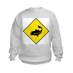 Fishing Area Sign Kids Sweatshirt