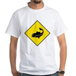 Fishing Area Sign White T-Shirt