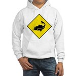 Fishing Area Sign Hooded Sweatshirt