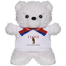 I Love Red-Tailed Hawks Teddy Bear