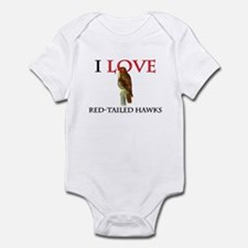 I Love Red-Tailed Hawks Infant Bodysuit