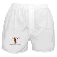 I Love Red-Tailed Hawks Boxer Shorts