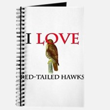 I Love Red-Tailed Hawks Journal