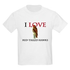 I Love Red-Tailed Hawks T-Shirt